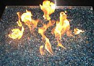 זכוכיות אש למדורת גן