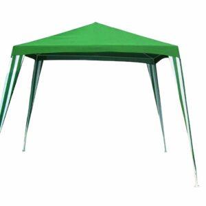 גזיבו מתכת ירוק 2.4×2.4 מטר